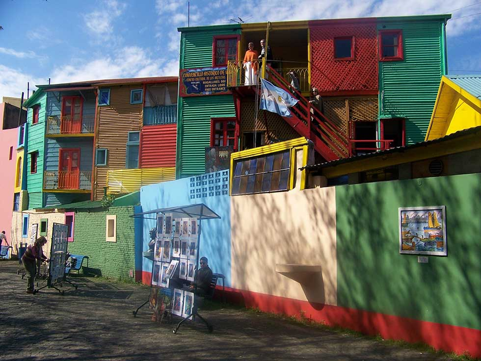 Colorful houses at Caminito in Buenos Aires