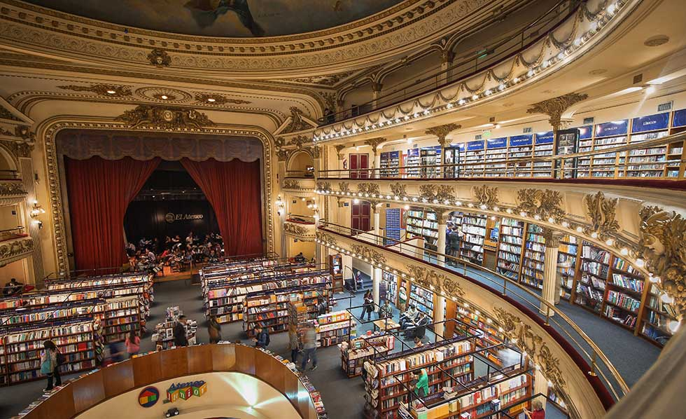 El Ateneo bookstore in a former theater in Buenos Aires.
