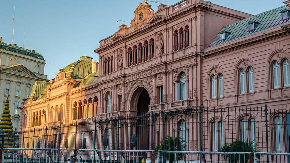 La Casa Rosada in Buenos Aires.