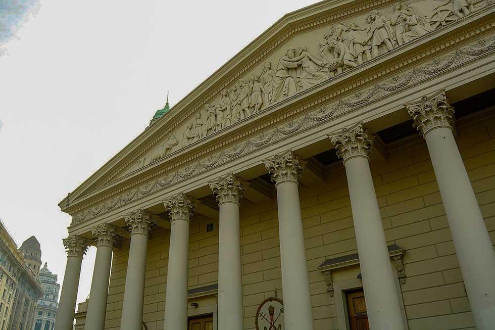 Metropolitan cathedral of Buenos Aires facade
