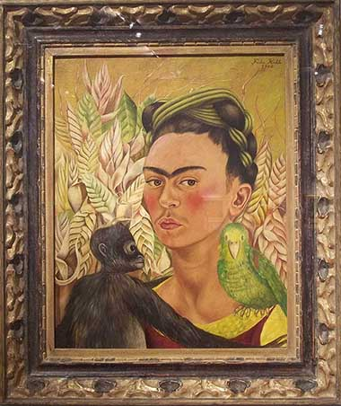 Frida Kahlo painting at Malba in Buenos Aires