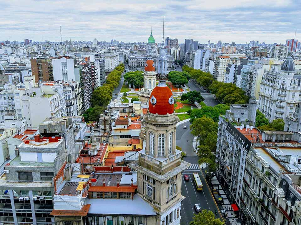 View from the Palacio Barolo in Buenos Aires.