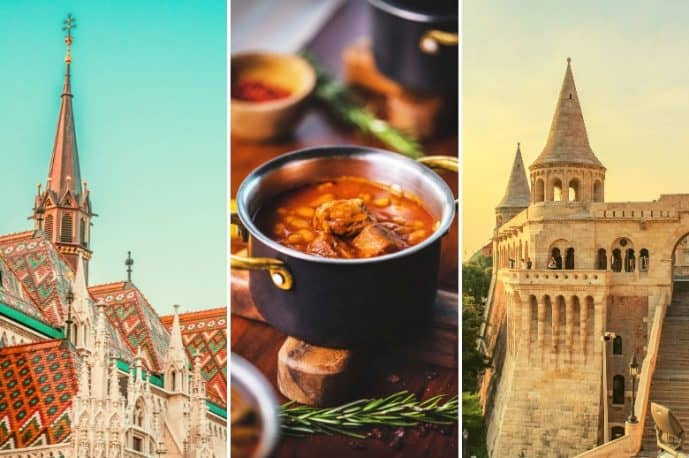 Collage photos of Budapest