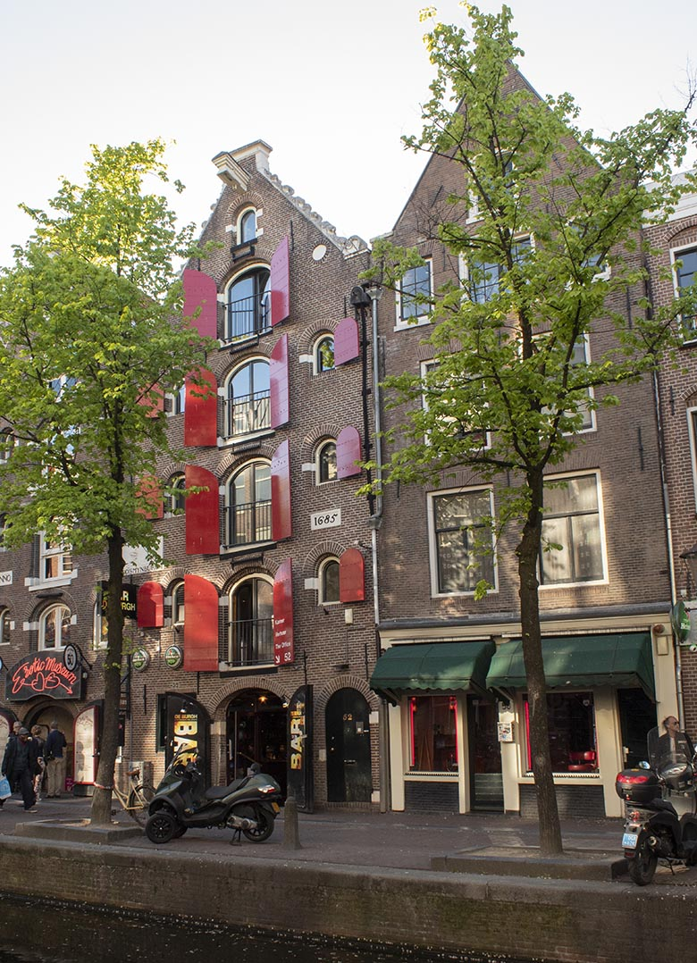 The Red Light District in Amsterdam during the day