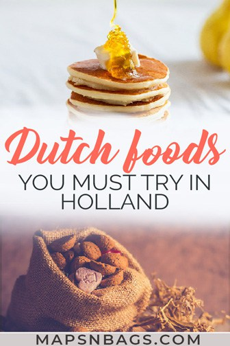 Pinterest graphic Typical Dutch food