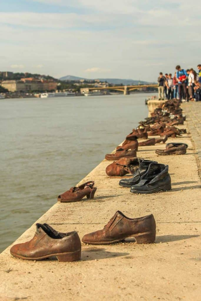 Shoes on the Danube Bank Monument in Budapest