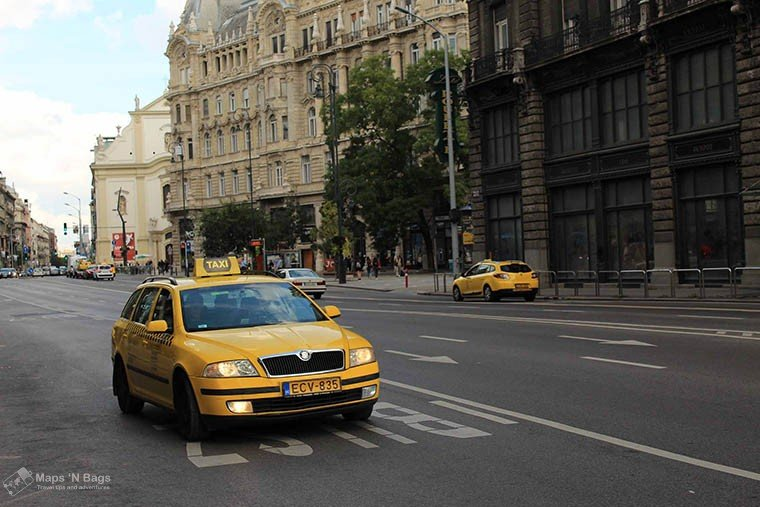 yellow-taxi-avenue-budapest-Public-transport