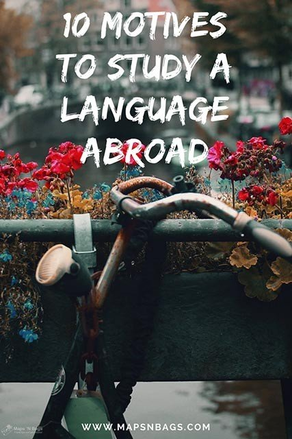 Check out the 10 motives why you have to study a language abroad! This cultural immersion is perfect to learn and also to develop your social skills. It might be not that easy, but this is a lifetime experience and a great way to travel the world! #language #study #abroad #travel
