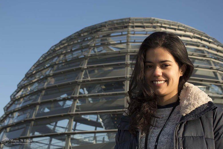 brunette-smiling-glass-dome-reichstag-things-to-do-in-berlin