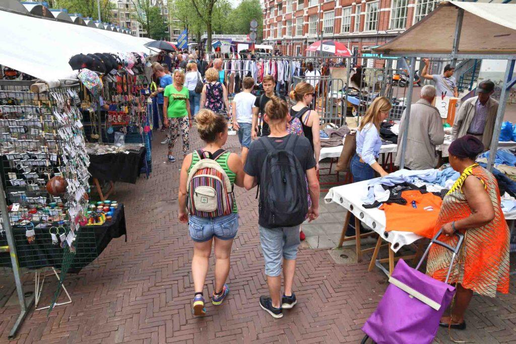 Waterlooplein Market in Amsterdam