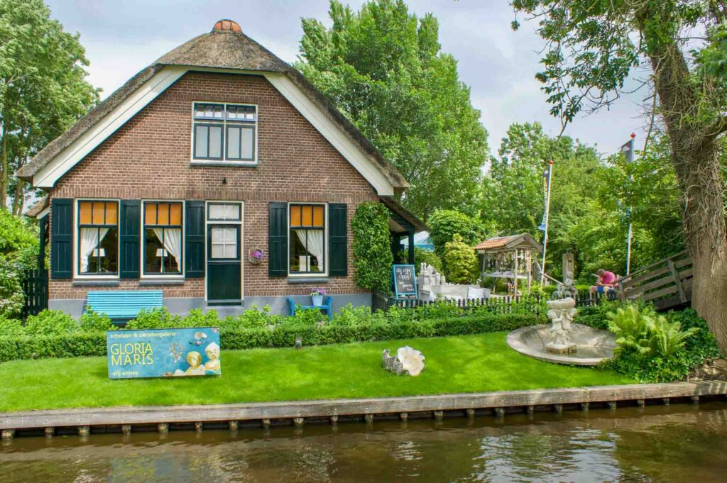 Museum and Gallery for shells Gloria Maris in the village of Giethoorn