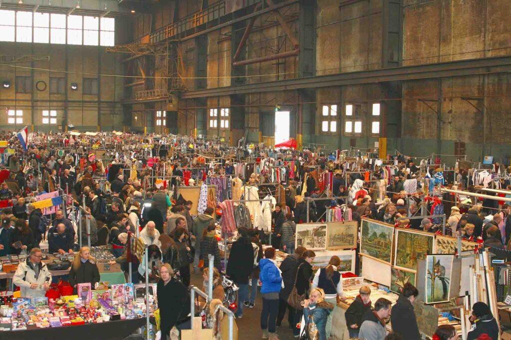 IJ-Hallen is a flea market in Amsterdam