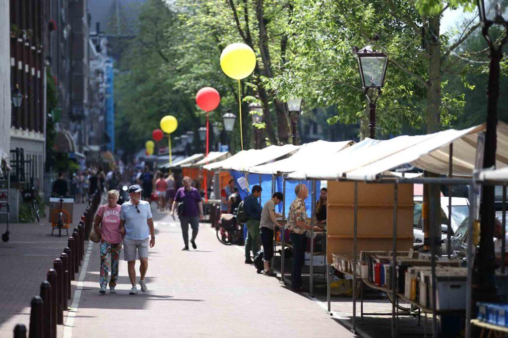 Spui book market in Amsterdam