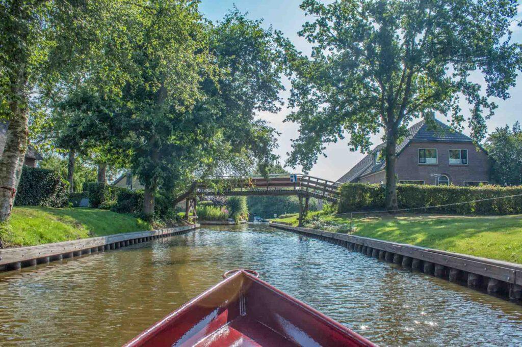 Whisper boat in Giethoorn Village, the Netherlands