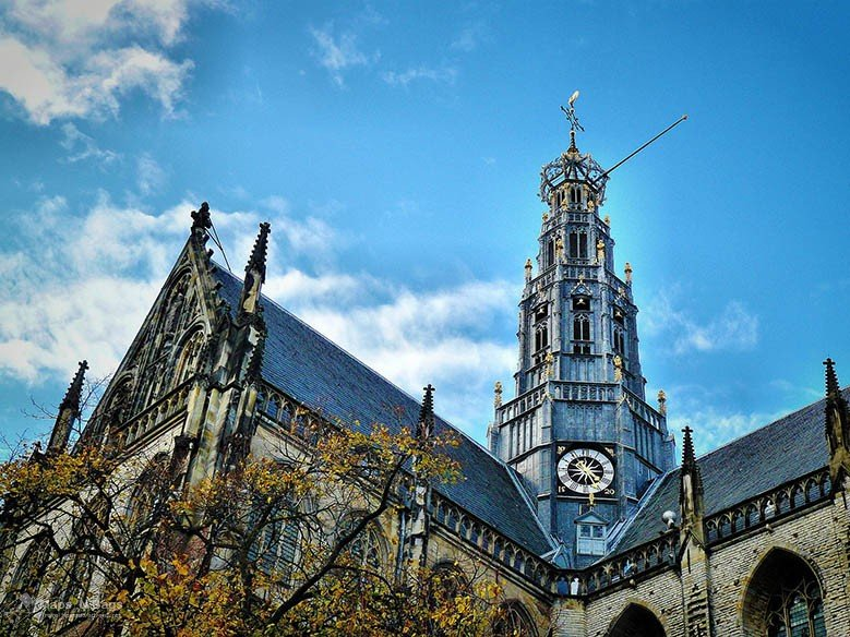 Part of the Saint Johns Church in Haarlem.