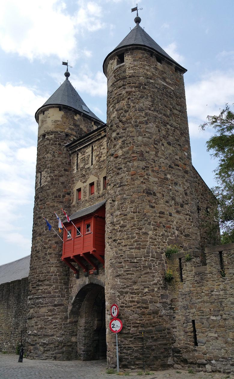 Medieval gate in Maastricht, the Netherlands.