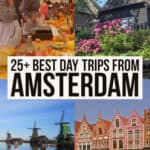 Best day trips from Amsterdam Pinterest graphic