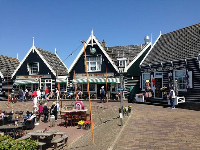 Houses in Marken, an Amsterdam day trip