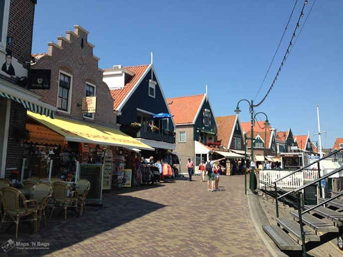 Houses in Volendam, an Amsterdam day trip