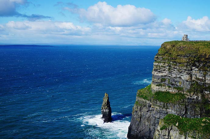 The Cliffs of Moher is a perfect day trip from Dublin