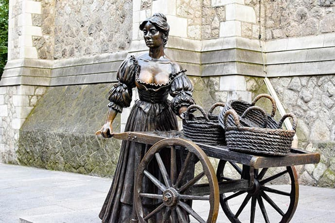 Include Molly Malone statue in your 2 days in Dublin itinerary