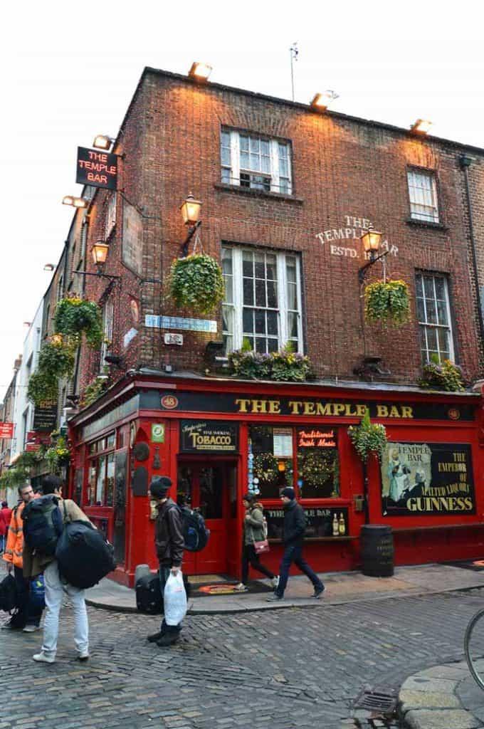 Temple Bar in Dublin city Center