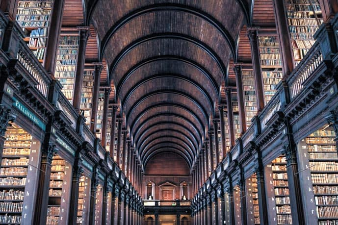 2 days in Dublin are enough to see the Old Library in the Trinity college