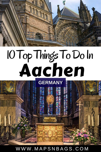Aachen is among the most innovative metropolis in Germany, but it also has plenty of historic constructions from medieval times throughout the city just waiting to be visited. The city center is compact, so most of the things to do in Aachen are close to each other and I've listed them in this post. #Aachen #Germany #Daytrip #Europe #AachenCathedral #travel #thingstodo