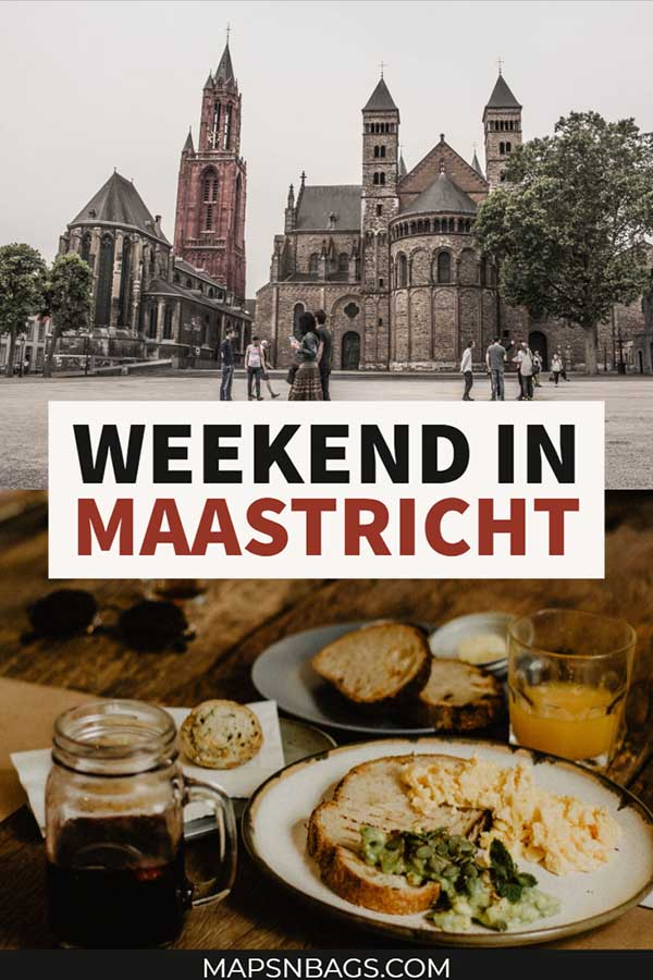 Architecture and history lovers will find a paradise in Maastricht. This medieval city in the Netherlands has great restaurants, shops, and historic churches. You don't want to miss it, right? Check out this itinerary for a weekend in Maastricht. #Maastricht #Netherlands #restaurants #christmas #shops #travel #pictures #winter #church