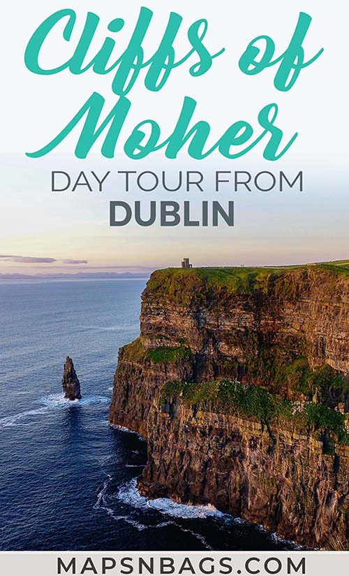 One of the best things to do in Ireland. Visit the Cliffs of Moher on a day trip from Dublin. Including how to get there by car, train, and shuttle bus. Check out the best tips! #Ireland #HarryPotter #CliffsofMoher #Photography