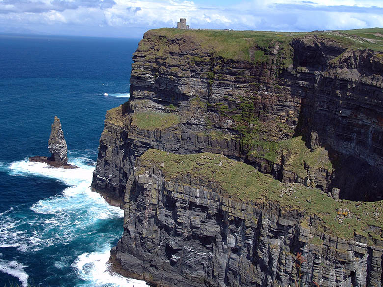 Cliffs of Moher and Atlantic ocean at the Irish coast. #Ireland #CliffsofMoher #Europe #Travel