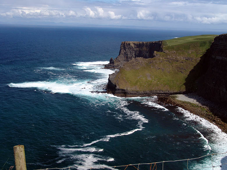 Protective fence at the Cliffs of Moher, Ireland #Ireland #CliffsofMoher #Europe #Travel