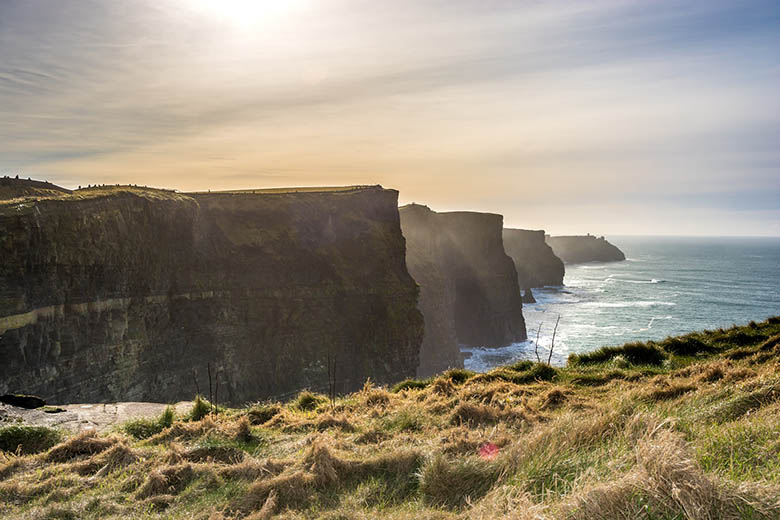 Sunset at the Cliffs of Moher in Ireland #Ireland #CliffsofMoher #Europe #Travel