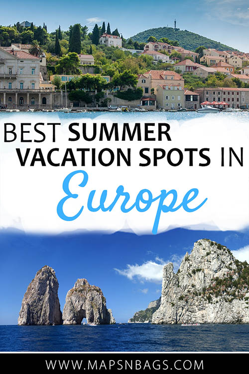 As the summer approaches, you need to decide where to go on holiday to enjoy the good weather and those sights, sounds, smells, and tastes that only come with summer. That's why I've paired up with a few travel bloggers to show you the best summer vacations spots in Europe! #Thingstodo #BucketList #trip #wanderlust #Europe #Destinations #Cities #Adventure #Beautiful #Summer