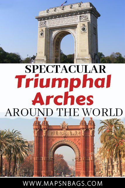 I've paired up with fellow travel bloggers to bring you the story and meaning of some of the most spectacular triumphal arches around the world. #TriumphalArch #Paris #Rome #Barcelona #Bucharest #Dublin #IndiaGate #Arch #ArcdeTriomphe #Orange #Travel #History #Architecture