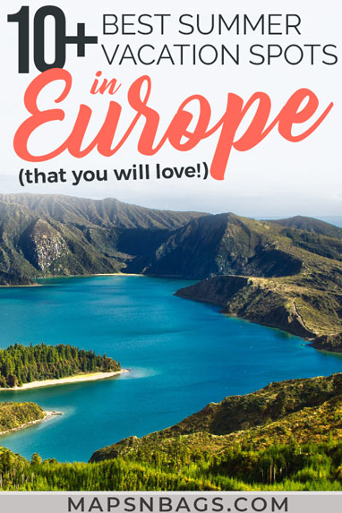 Check out the best summer destinations in Europe! Including the best things to do in many European cities, places to visit, such as beautiful beaches and amazing city trips. Oh, and lots of travel tips to ease your wanderlust! Check it out! | Summer vacation spots in Europe | Summer destinations in Europe | European destinations to visit this summer #BucketList #trip #wanderlust #Europe #Adventure #mapsnbags #Summer