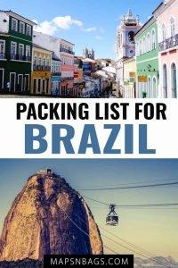Packing list for Brazil Pinterest graphic