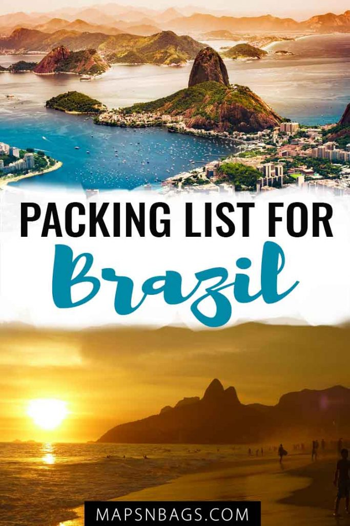 Packing list for Brazil Pinterest graphic