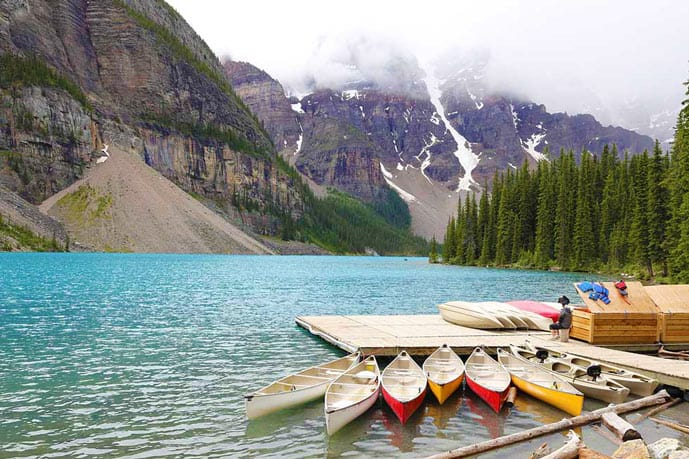 Lake Moraine trail is one of the best hikes in Banff