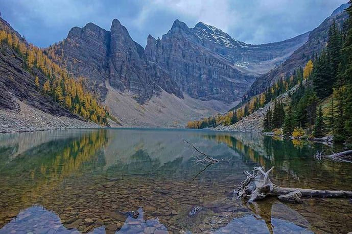 Lake Agnes trail is one of the best hikes in Banff