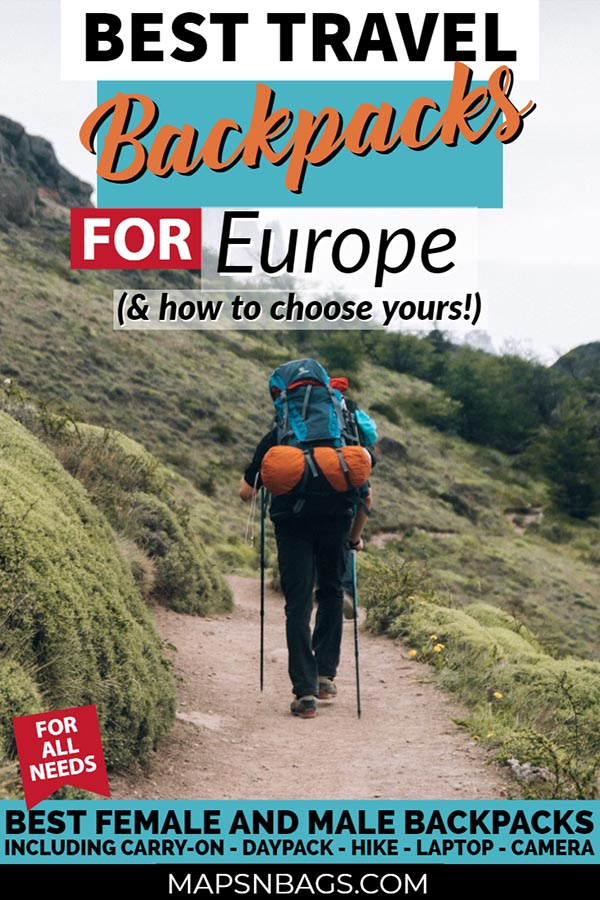 How to choose the best travel backpack for Europe? In this post, I tell you what you should look for in a backpack and give you a bunch of valuable advice! Including carry on for women and men, hiking backpacks, camera backpacks, laptop backpacks, and much more! #Backpack #carryon #forwomen #small #stylish #Essentials #formen #best #antitheft #packing #international #Hiking #Adventure #airplane #organization #laptop #europe #trips #2018
