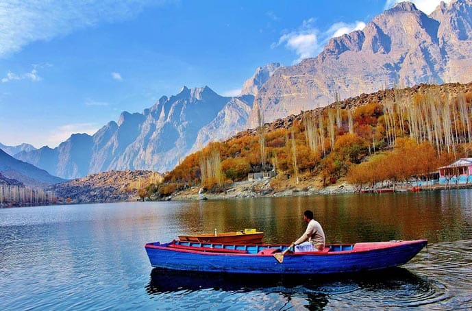 Man in a boat in Pakistan