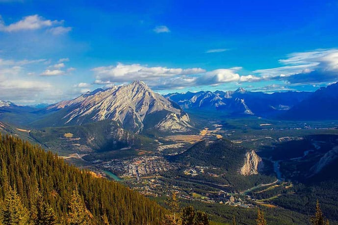 View from Banff Gondola in Sulphur Mountain