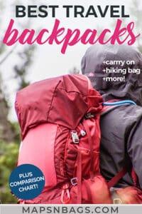 Best travel backpacks for Europe Pinterest graphic
