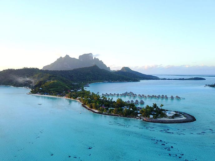 Paradise in blue water, French Polynesia