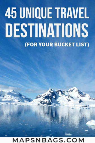 Pinterest graphic Unique travel destinations