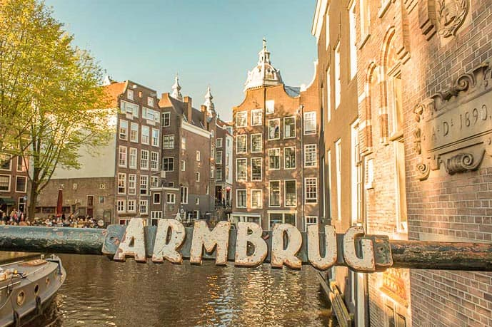 The Red Light District is one of the most Instagram worthy places in Amsterdam