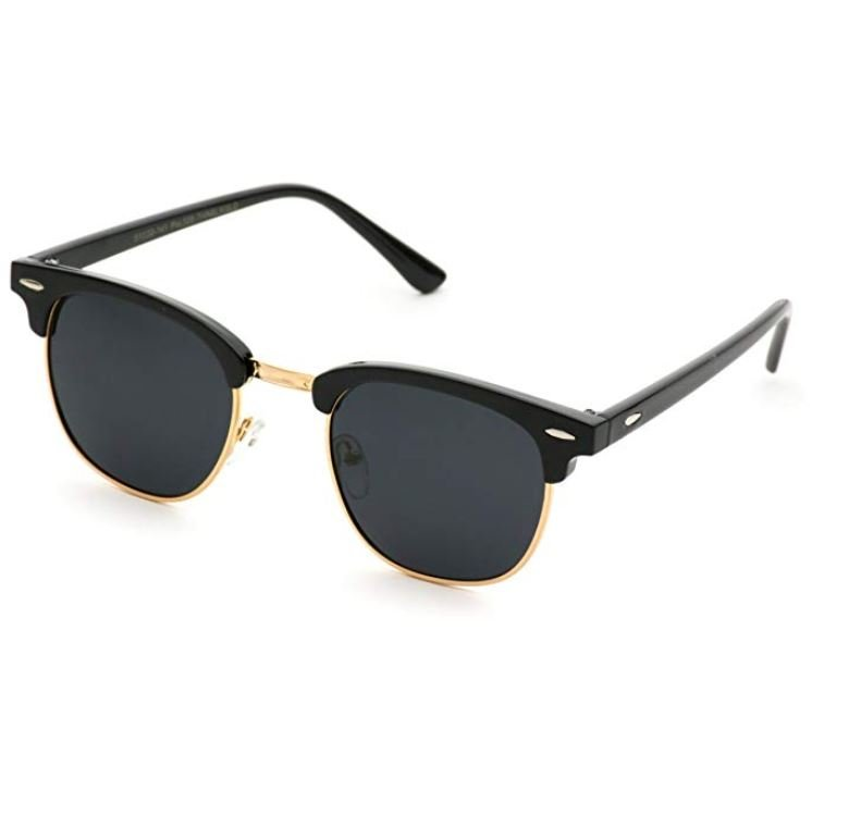 Black sunglasses for women to wear in Europe.