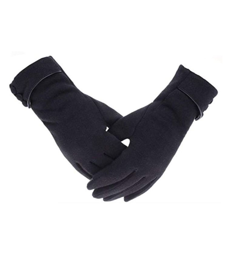Black gloves for winter in Europe.