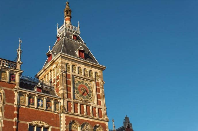 The Central Station is one of the best photo spots in Amsterdam